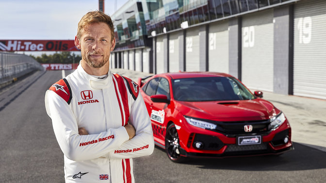 Honda Civic Type R et Jenson Button
